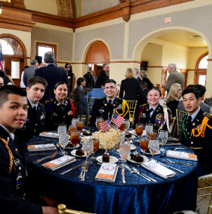JROTC students at luncheon