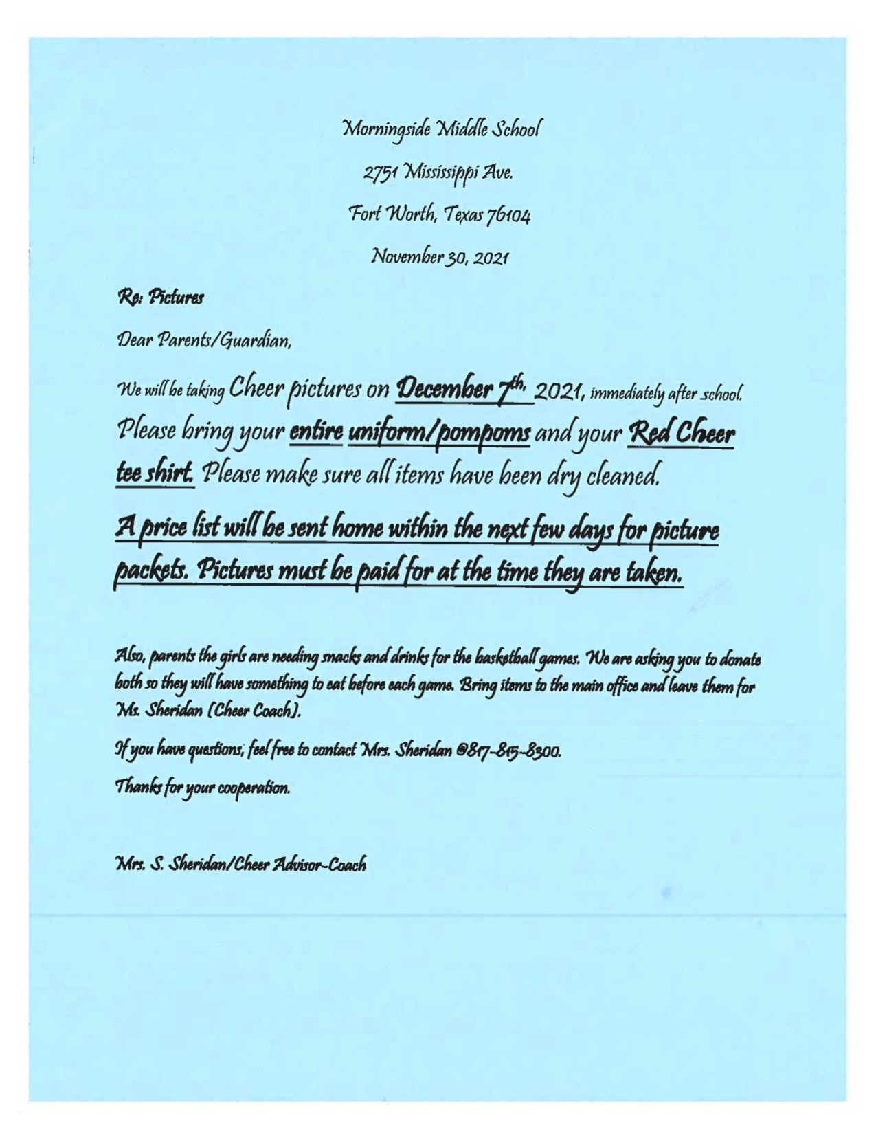 Morningside Cheerleaders Take 2nd Place at 7th Annual Cheer Competition