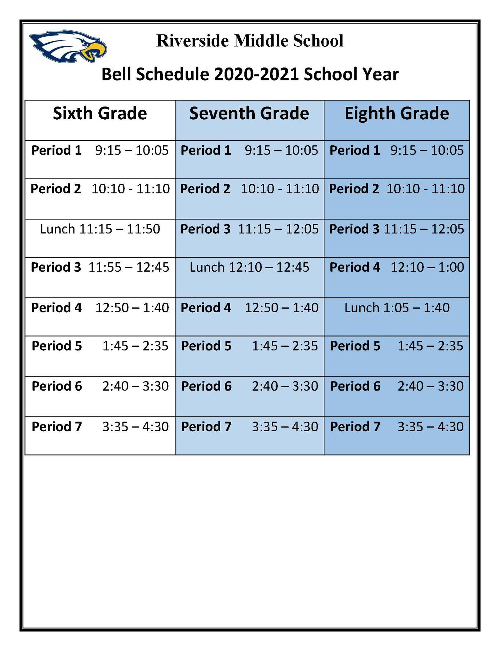 RMS School Schedule
