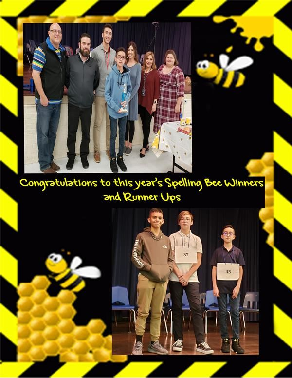 Congratulations to this year's Spelling Bee Winner & Runner Ups