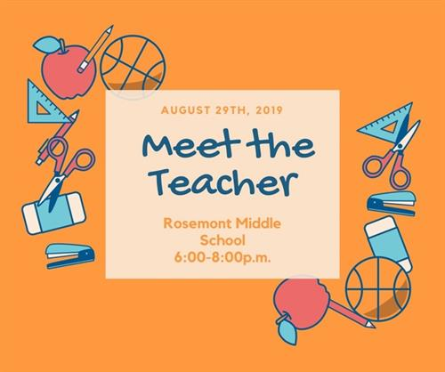 Meet the Teacher Night 8/29