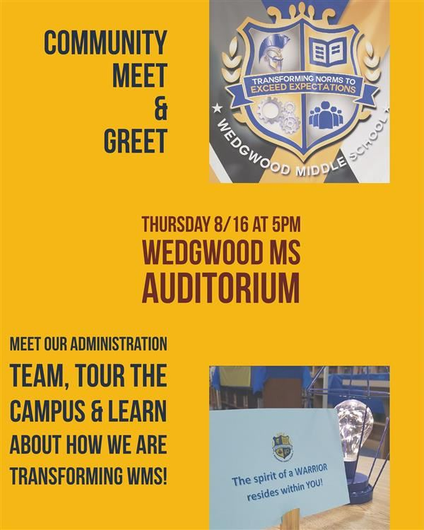 Community Meet and Greet to be held August 16