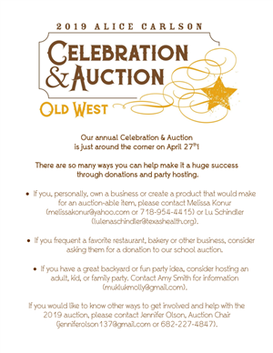 2019 ACALC Auction flyer