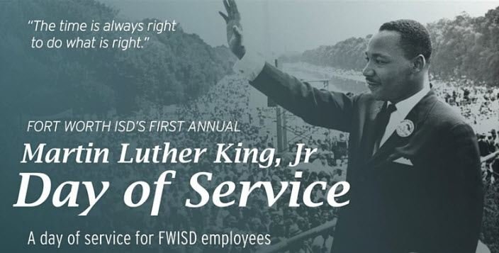 Volunteer for FWISD MLK Day of Service