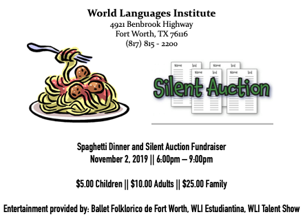 Spaghetti Dinner & Silent Auction Fundraiser