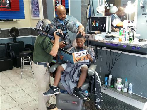 Reading With Barbers Photo shoot