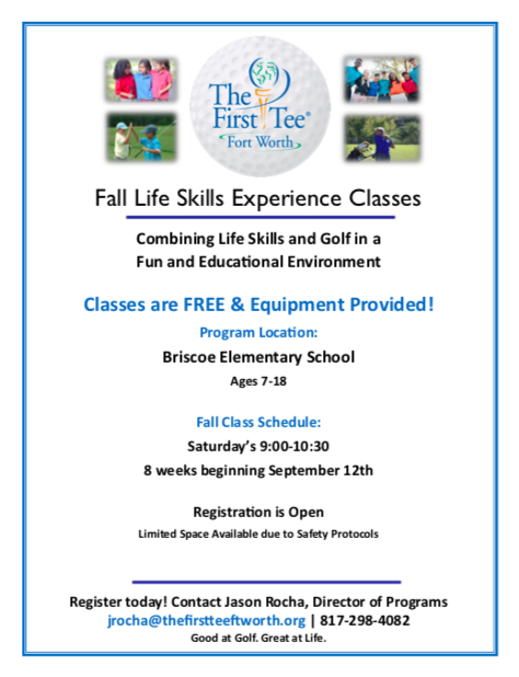 Fall Life Skills Experience Classes