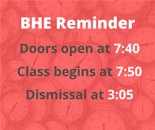 Arrival and Dismissal Times
