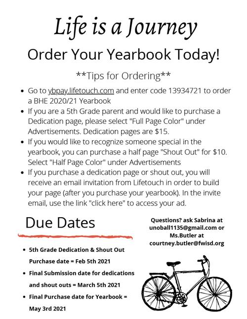 Yearbooks on Sale NOW!