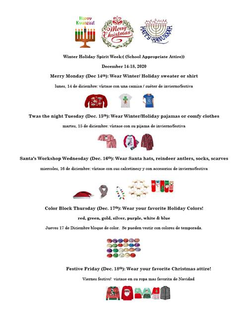 Winter Holiday Spirit Week