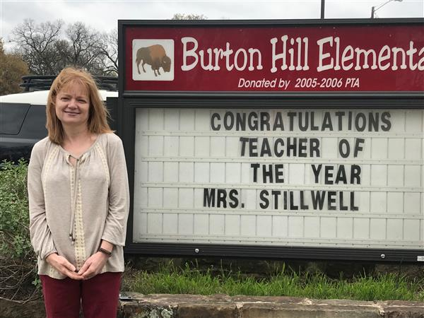 Congratulations Mrs. Stillwell. She is Burton Hill's Teacher of the Year 2017-2018!