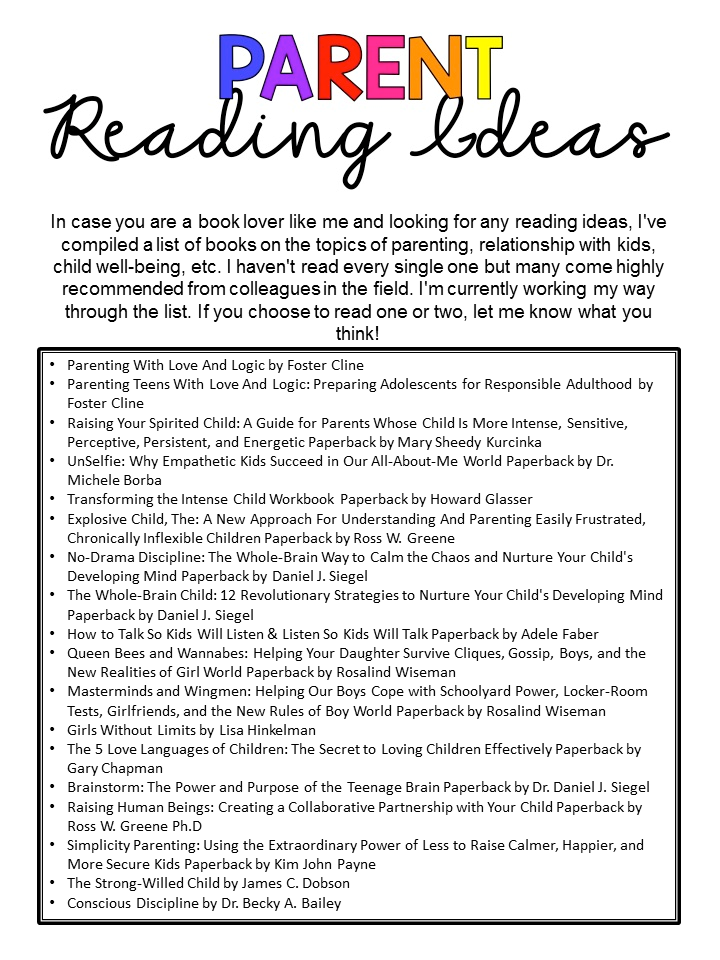 Parent Reading Resources PNG