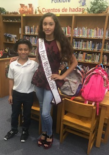 Thank you to Miss Teen Fort Worth Latina for donating backpacks and school supplies!