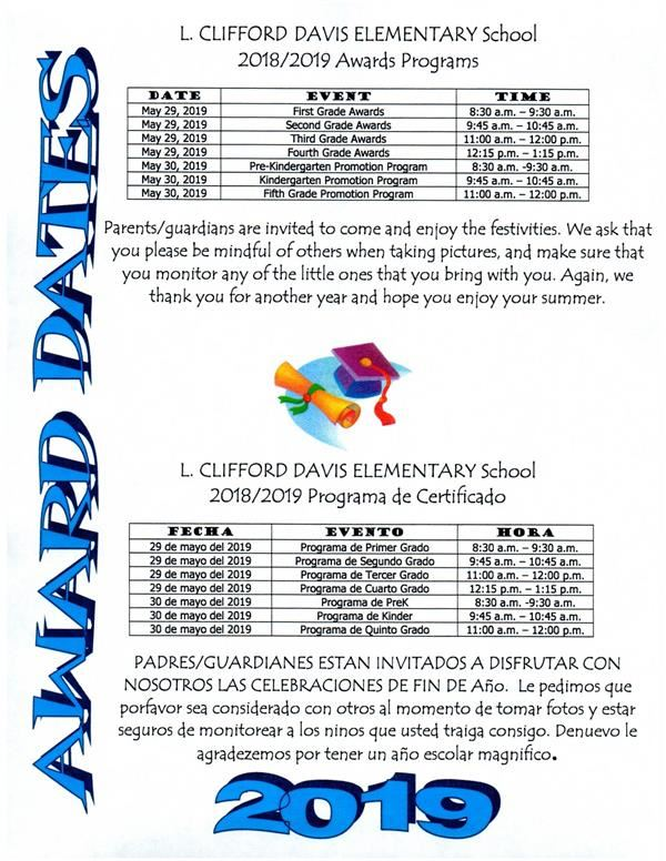 END OF YEAR AWARDS PROGRAM INFORMATION