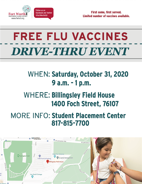 Flu Vaccines for FWISD Students