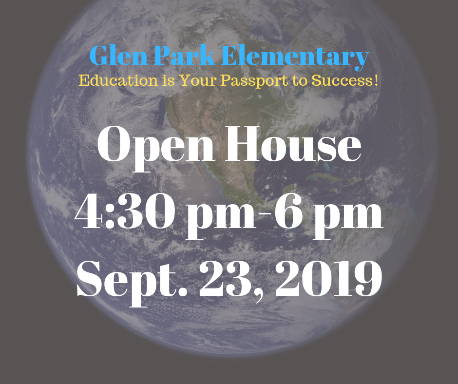 Open House at Glen Park Elementary