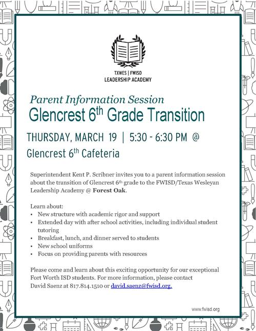 Glencrest Transition Meeting