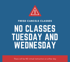 No Classes Tuesday 2/16 and Wednesday 2/17