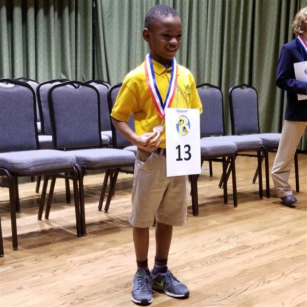 Marvyon Lyles - 2nd Grader - Competes at the Area 3 Spelling Bee Competition