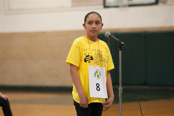 Student takes part in 2017 Area Spelling Bee