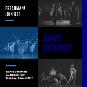 AHHS Dance Freshman Ensemble Auditions - Monday, August 26th 4-6pm in the Library.