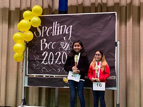 Spelling Bee 1st and Runner Up
