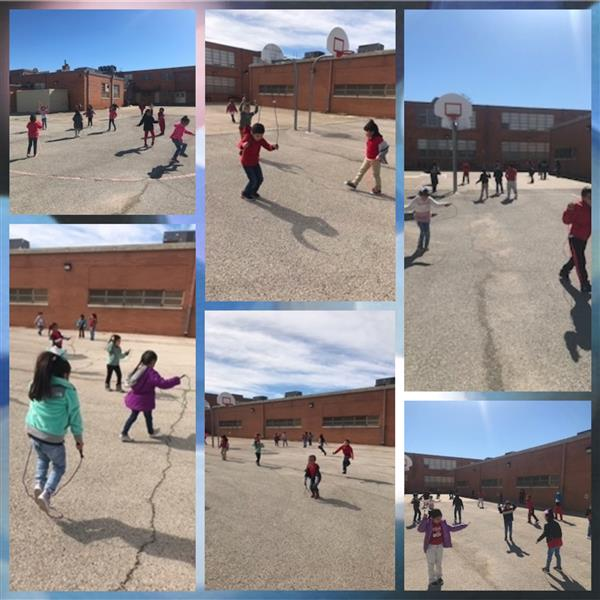 Our Kinder and 1st Graders Jumped Rope for healthy hearts today! Way to go!