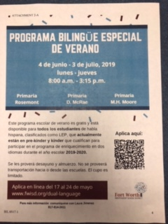 Bilingual Special Language Summer School