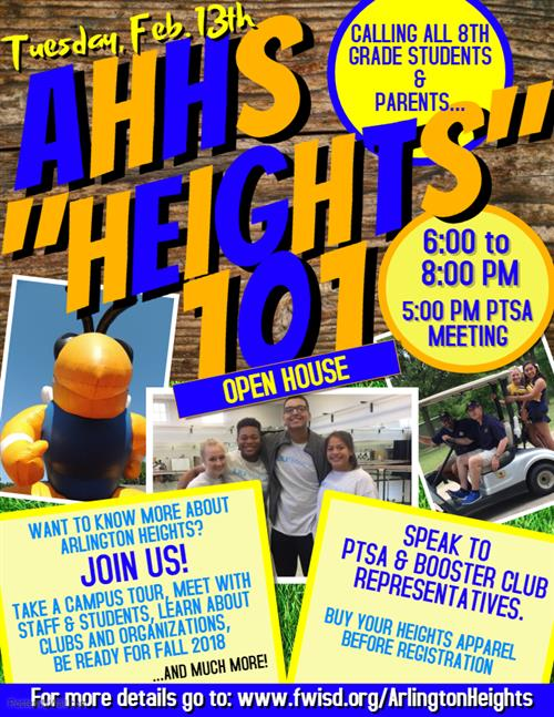 AHHS Open house