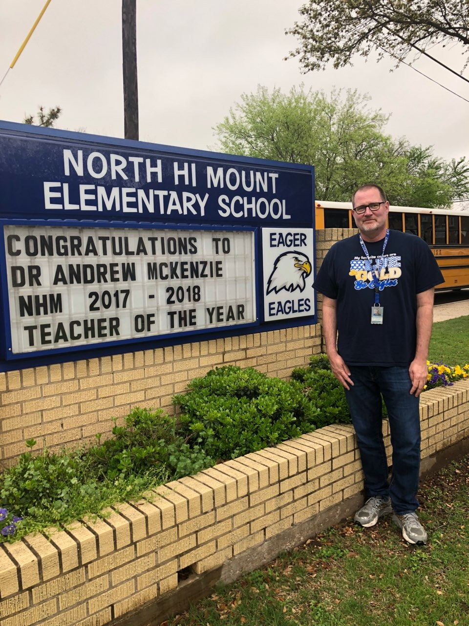 NHM's Teacher of the Year was named District Finalist for Elementary Teacher of the Year!