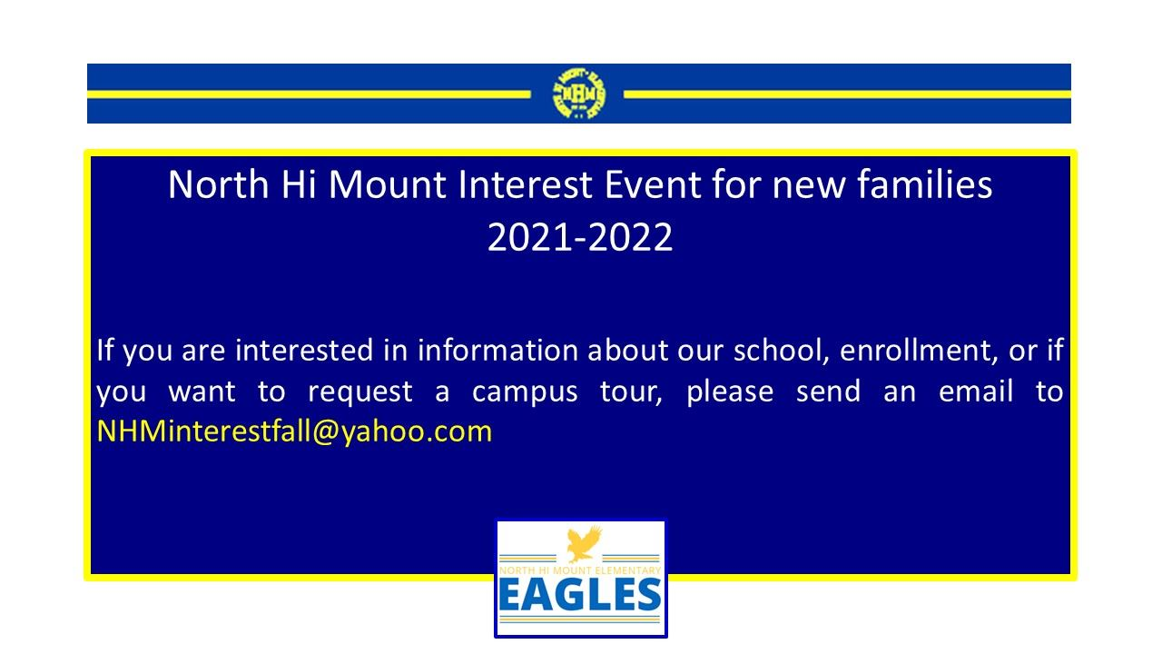 Information for New Families 2021-2022 enrollment