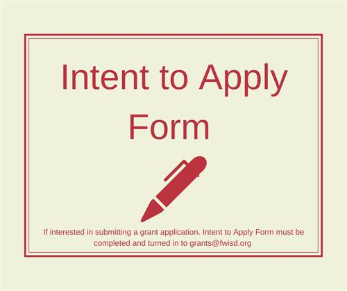 Intent to Apply Form