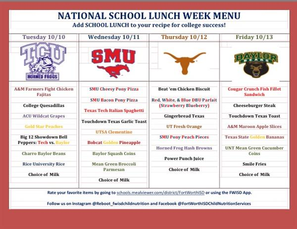 Tcu Instructional Services : Child nutrition services home page